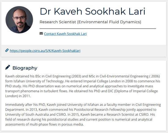 Dr Kaveh Sookhak Lari